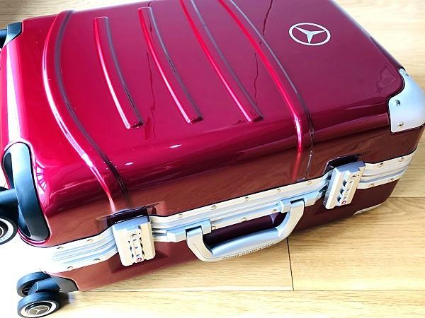 最高級★Mercedes-Benz ※アルミフレーム・軽量/静音・オリジナル・スーツケース/キャリーケース/機内持ち込可/20インチ/赤_画像8