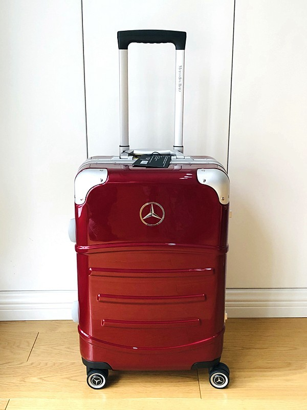 最高級★Mercedes-Benz ※アルミフレーム・軽量/静音・オリジナル・スーツケース/キャリーケース/機内持ち込可/20インチ/赤