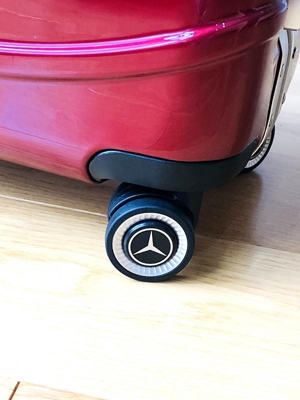 最高級★Mercedes-Benz ※アルミフレーム・軽量/静音・オリジナル・スーツケース/キャリーケース/機内持ち込可/20インチ/赤_画像9