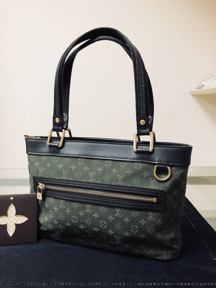 ◆ 美品 ◆ ルイヴィトン LOUIS VUITTON モノグラムミニライン ルシーユ カーキ バッグ