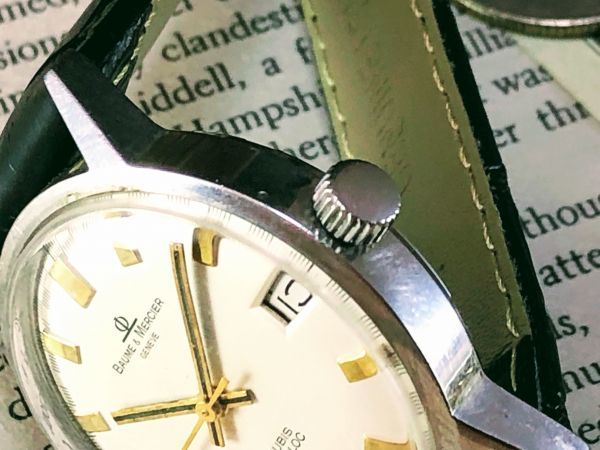 ■極上美品!■高級ブランド/ボーム&メルシエ【BAUME & MERCIER】1960'sビンテージ/メンズ/手巻き/腕時計/アンティークウォッチ/OH済み_画像2