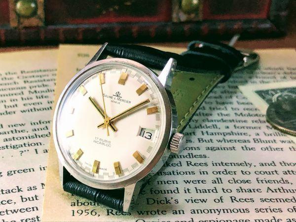 ■極上美品!■高級ブランド/ボーム&メルシエ【BAUME & MERCIER】1960'sビンテージ/メンズ/手巻き/腕時計/アンティークウォッチ/OH済み_画像3