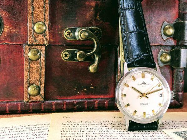 ■極上美品!■高級ブランド/ボーム&メルシエ【BAUME & MERCIER】1960'sビンテージ/メンズ/手巻き/腕時計/アンティークウォッチ/OH済み_画像7