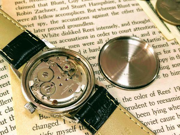 ■極上美品!■高級ブランド/ボーム&メルシエ【BAUME & MERCIER】1960'sビンテージ/メンズ/手巻き/腕時計/アンティークウォッチ/OH済み_画像9