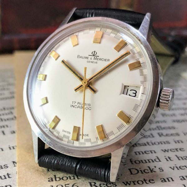 ■極上美品!■高級ブランド/ボーム&メルシエ【BAUME & MERCIER】1960'sビンテージ/メンズ/手巻き/腕時計/アンティークウォッチ/OH済み