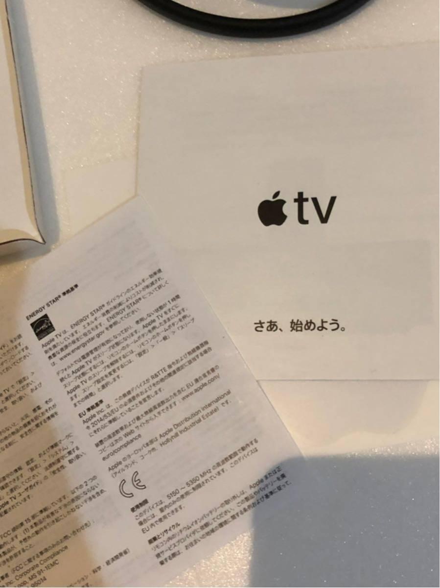 《Apple TV》4K 32GB MQD22J/A 第5世代 アップル ティービー テレビ マック MacBook 映画 プロジェクター 中古 美品 コード付き_画像4