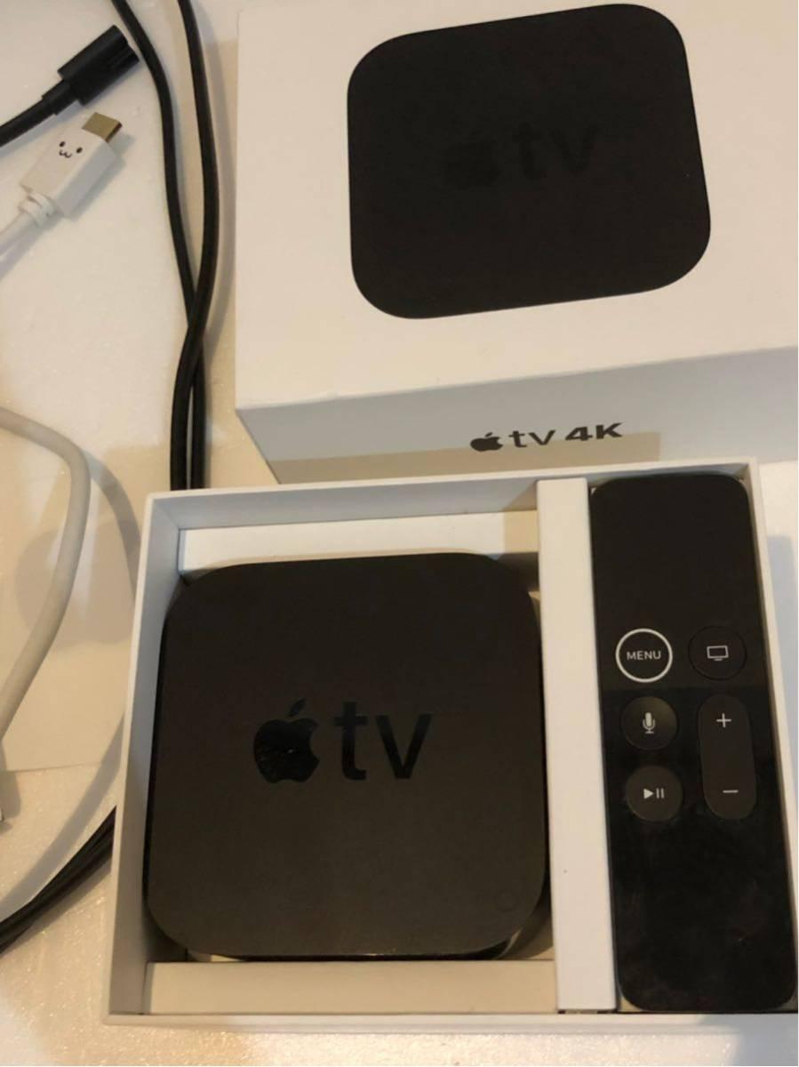 《Apple TV》4K 32GB MQD22J/A 第5世代 アップル ティービー テレビ マック MacBook 映画 プロジェクター 中古 美品 コード付き