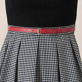 ☆ブルーレーベルクレストブリッジのギンガムチェック柄スカートのドッキングワンピース☆_画像3