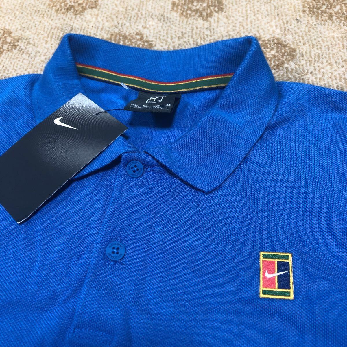 新品 NIKE tennis ナイキ テニス コートロゴ ポロシャツ メンズUSサイズXS 日本サイズS スリムフィット