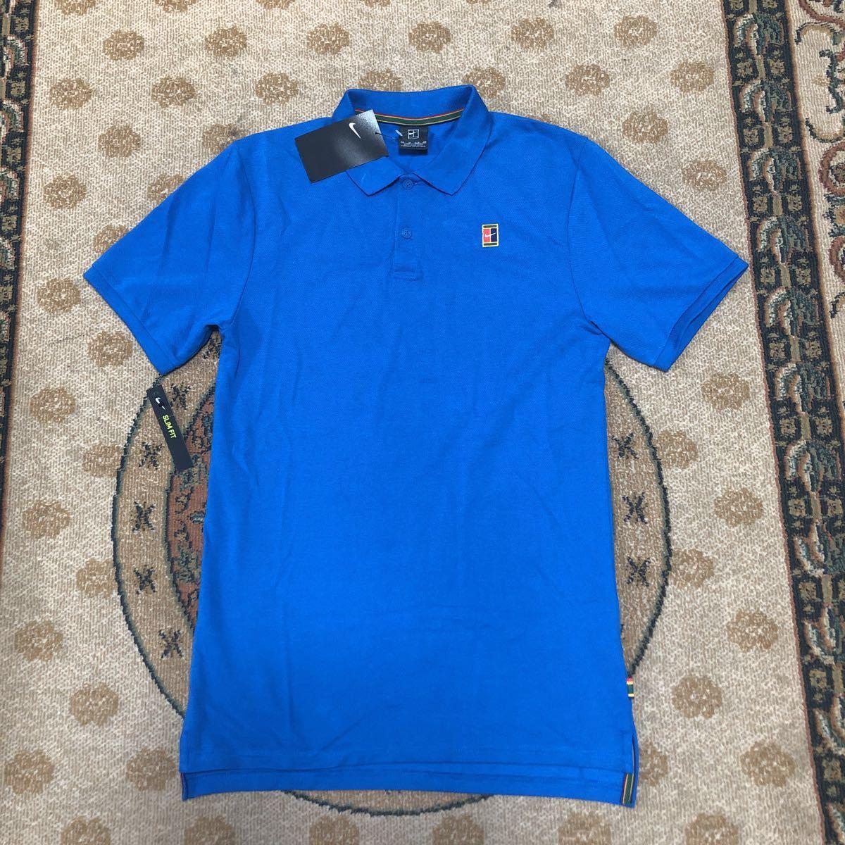新品 NIKE tennis ナイキ テニス コートロゴ ポロシャツ メンズUSサイズXS 日本サイズS スリムフィット_画像2