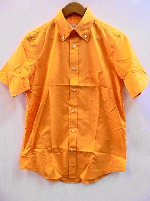 Sサイズ Printstar 2枚セット 未使用 未開封 ボタンダウン 半袖 シャツ 橙 橙オレンジ ブロード プリントスター_画像2