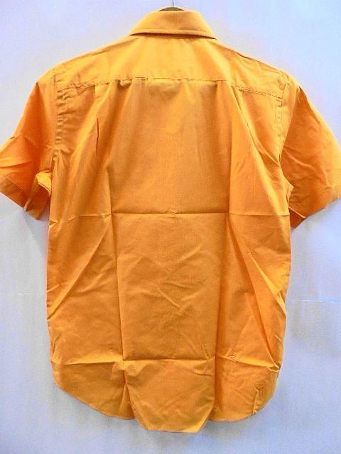 Sサイズ Printstar 2枚セット 未使用 未開封 ボタンダウン 半袖 シャツ 橙 橙オレンジ ブロード プリントスター_画像3