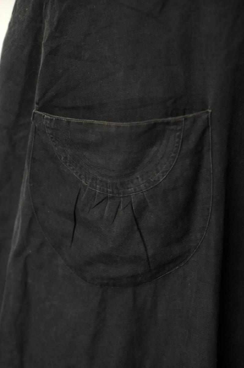 フランス ヴィンテージ 1930's ブラックコットンリネンワークブラウス レアディティール 20s 30s 40s ジャケット アンティーク 送料込_画像5