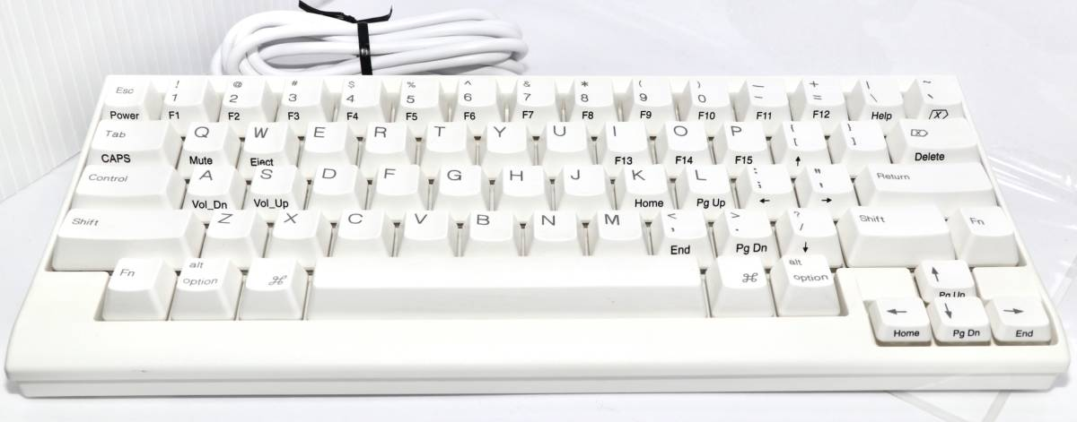 [送料¥0]中古動作品☆PFU Happy Hacking Keyboard Lite2 for Mac英語配列USBキーボードMac専用モデル ホワイト PD-KB200MA (1537A2N16ZC)_画像1