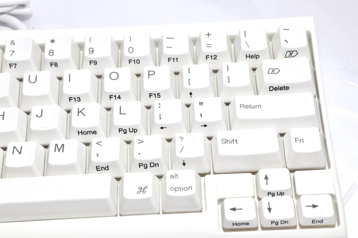 [送料¥0]中古動作品☆PFU Happy Hacking Keyboard Lite2 for Mac英語配列USBキーボードMac専用モデル ホワイト PD-KB200MA (1537A2N16ZC)_画像3