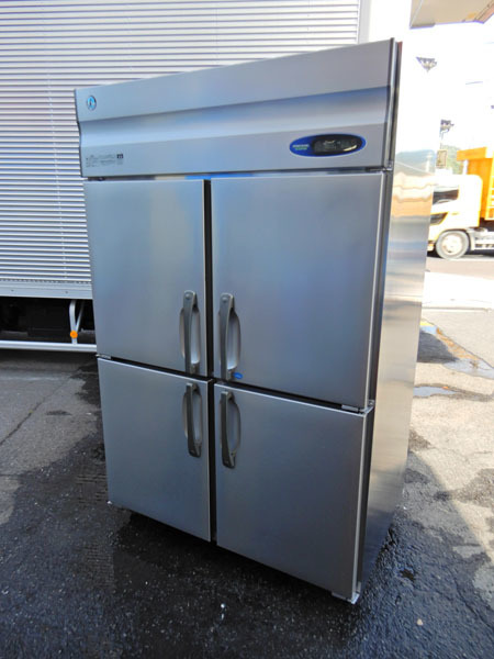 HJ10 美品 2013年製 ホシザキ 厨房器機 業務用 100V 1凍3蔵 四ドア 4ドア 4面 縦型冷凍冷蔵庫 HRF-120Z_画像1