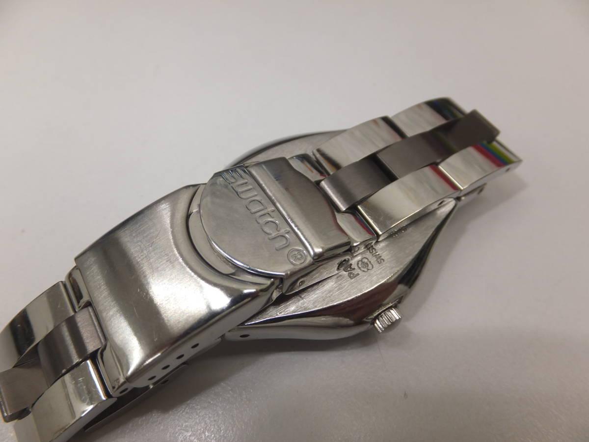 30291-180 SWATCH IRONY スウォッチ アイロニー/メンズ腕時計/電池交換済み 風防本体小傷有 快調 送料180円~同梱不可_画像5