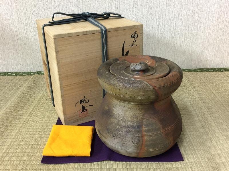 小西陶古 備前焼 水指 共箱 茶道具