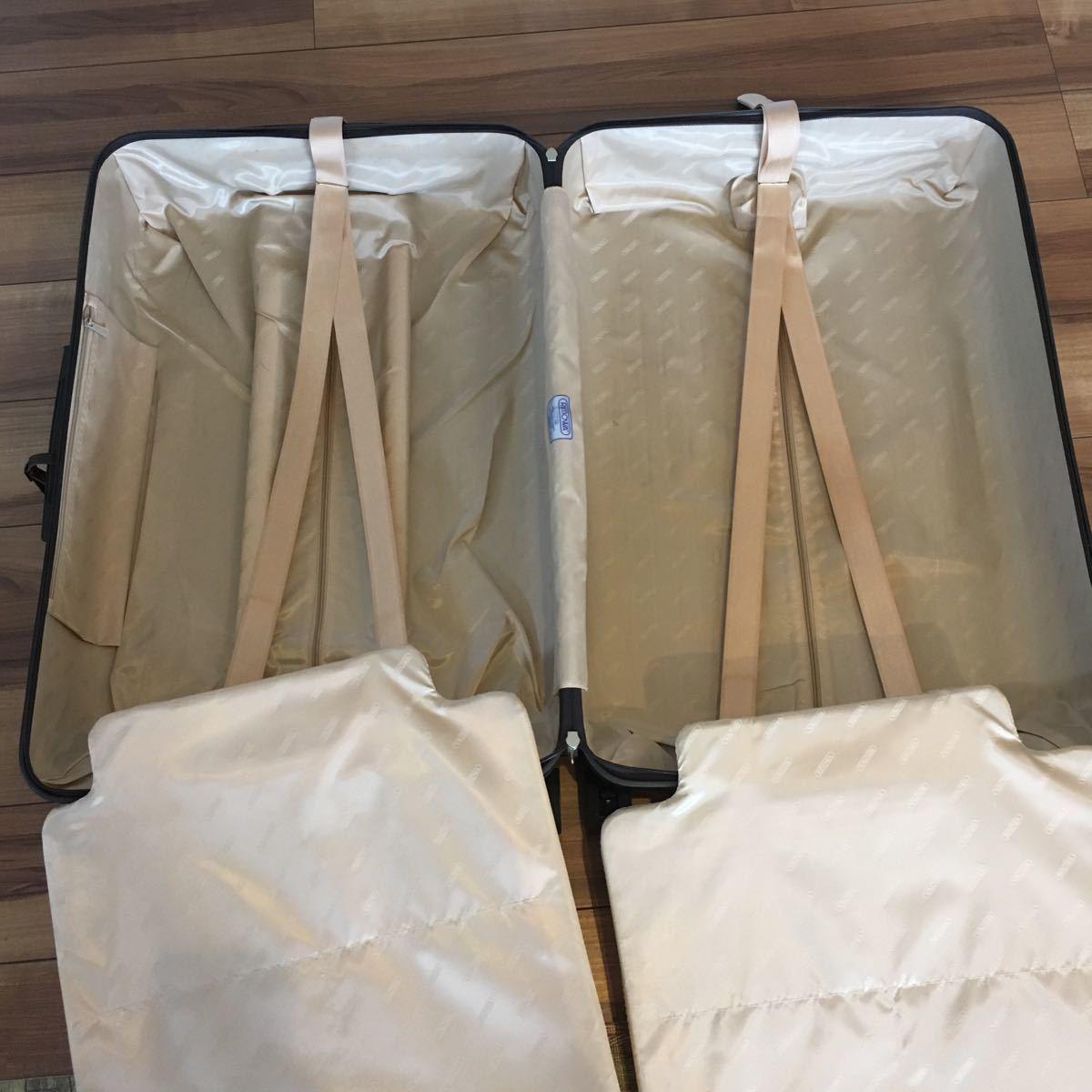 中古 RIMOWAリモワ サルサ デラックス 87L SALSA DELUXE キャリーバック スーツケース ブラウン 機内持ち込み不可 新型 TSA有 4輪 ゼロハリ_画像9