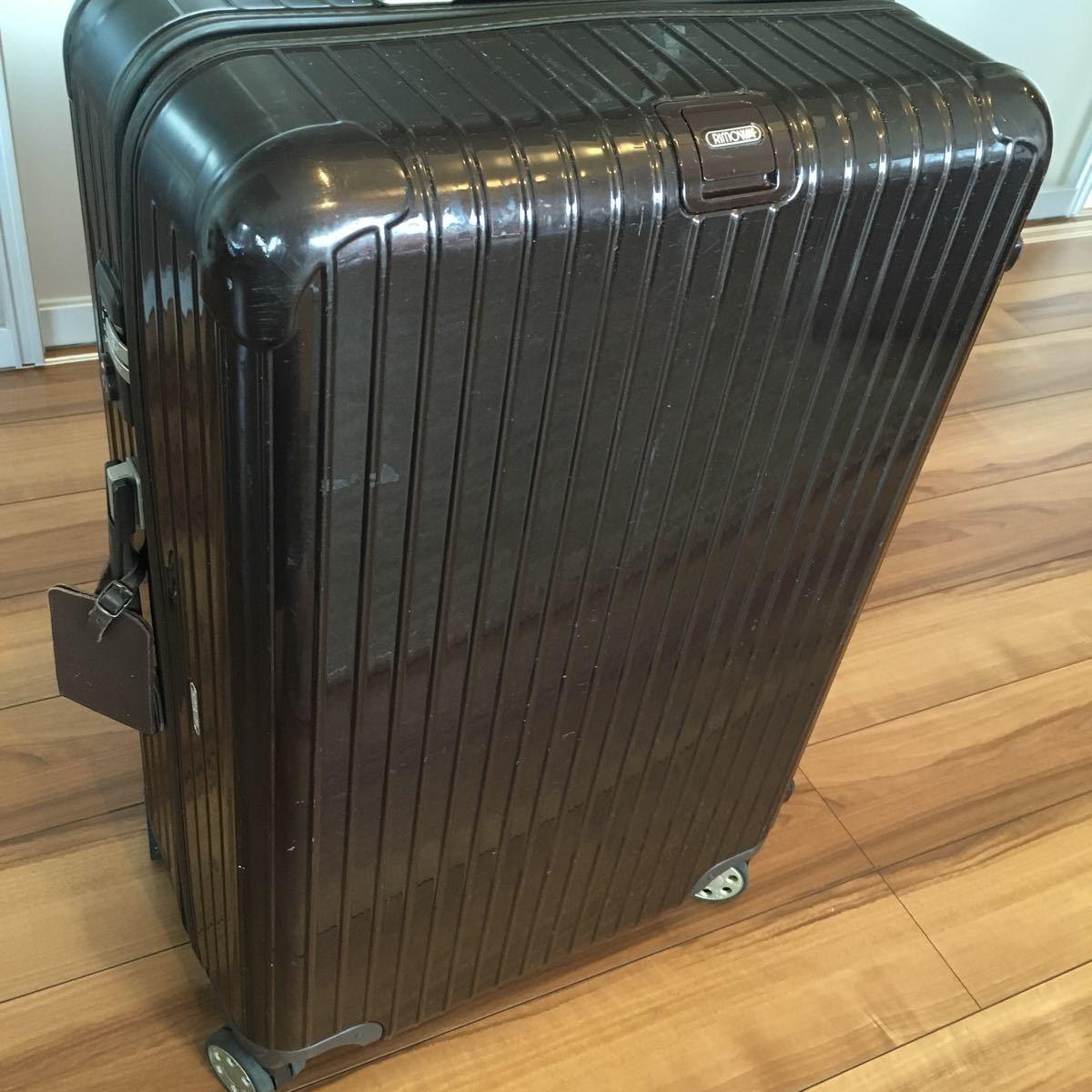 中古 RIMOWAリモワ サルサ デラックス 87L SALSA DELUXE キャリーバック スーツケース ブラウン 機内持ち込み不可 新型 TSA有 4輪 ゼロハリ_画像3