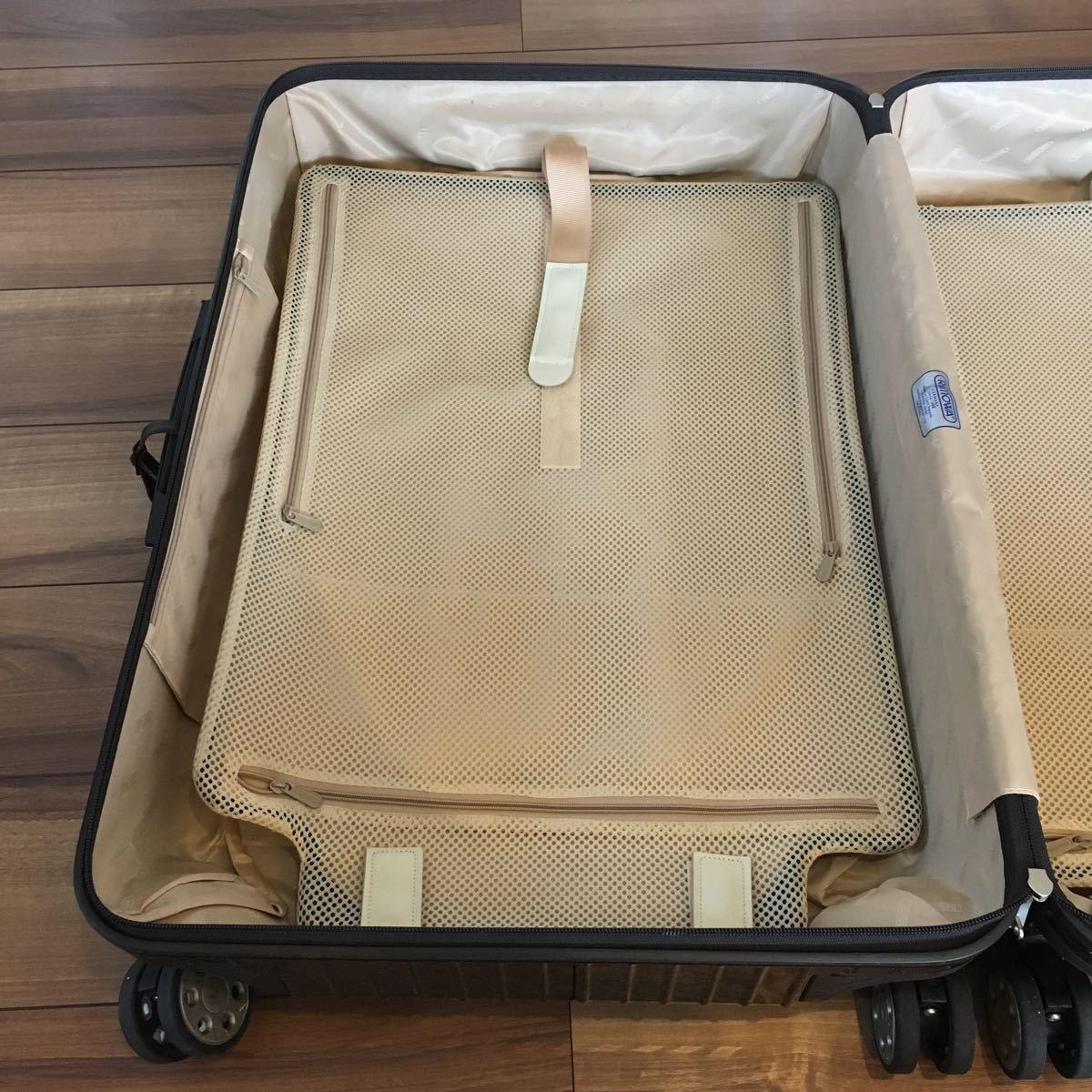 中古 RIMOWAリモワ サルサ デラックス 87L SALSA DELUXE キャリーバック スーツケース ブラウン 機内持ち込み不可 新型 TSA有 4輪 ゼロハリ_画像7