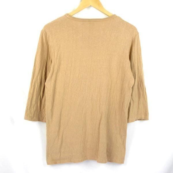Barns 胸ポケット 7分袖 アメカジTシャツ sizeM/バーンズ 0703_画像3