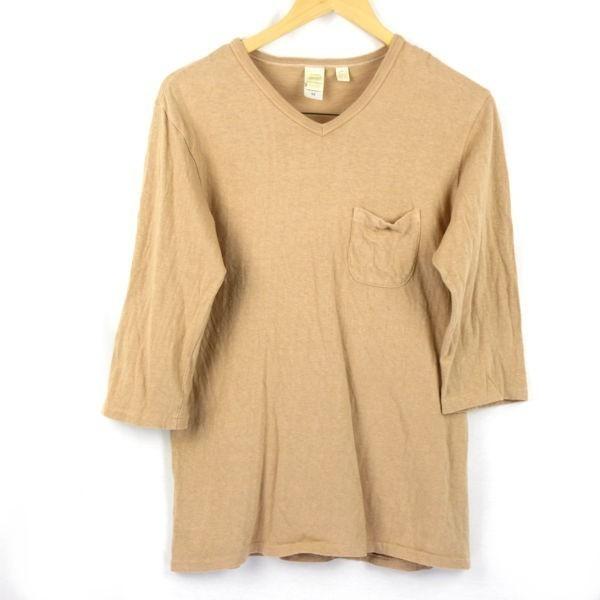Barns 胸ポケット 7分袖 アメカジTシャツ sizeM/バーンズ 0703