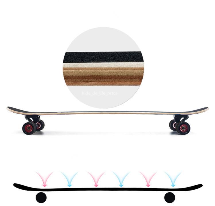 プロの四輪スケートボード ロングボード スクーター 初心者青少年子供通用 80A高弾性PUホイール ABEC-11クロム鋼マナーモード軸受 SSG-5_画像8