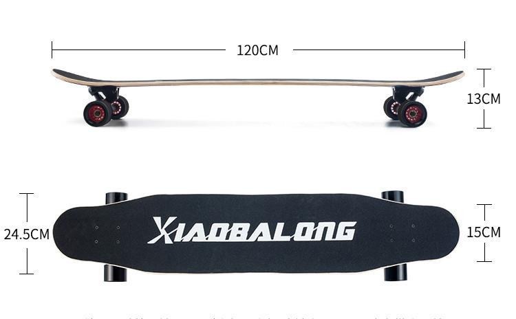 プロの四輪スケートボード ロングボード スクーター 初心者青少年子供通用 80A高弾性PUホイール ABEC-11クロム鋼マナーモード軸受 SSG-5_画像9