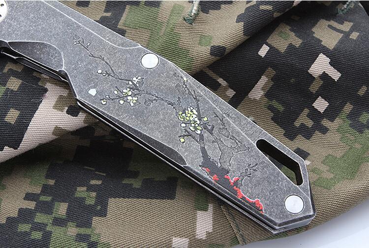 高品質ハンターナイフ フルタング構造 天然ウッド  AH0-GG_画像5