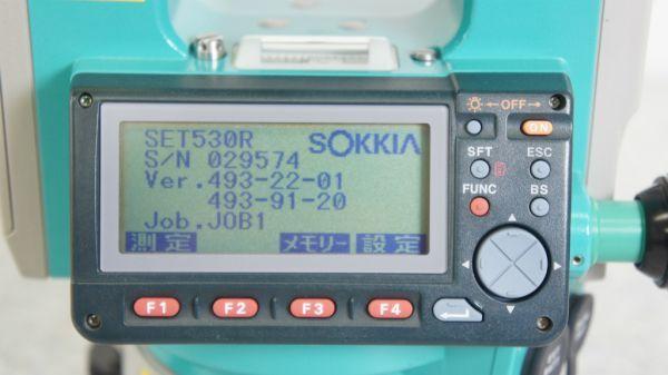 B284012R] SOKKIA/ソキア SET530RS ノンプリズム トータルステーション_画像7