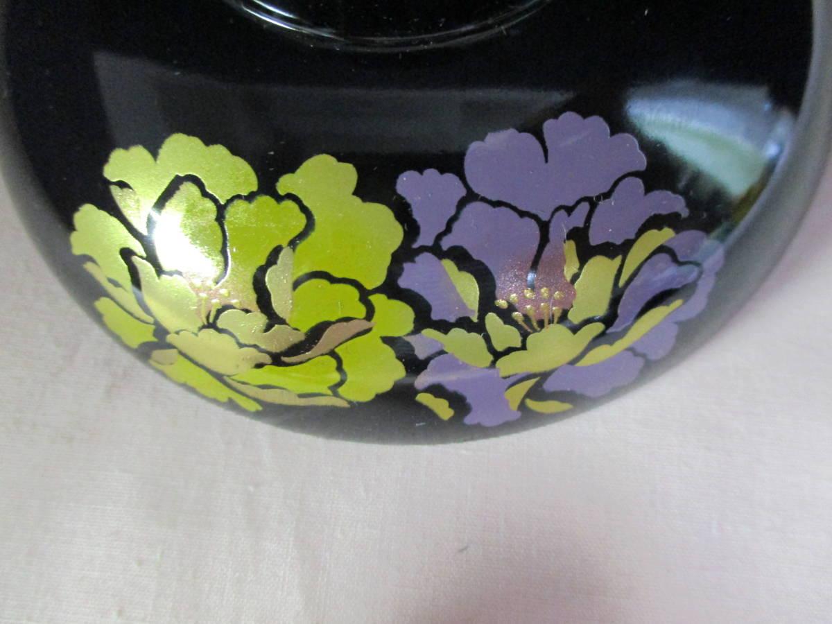 鶯】 花うらら 御吸物椀 ☆5客 漆器 紫の花絵が美しい♪ 未使用_画像6