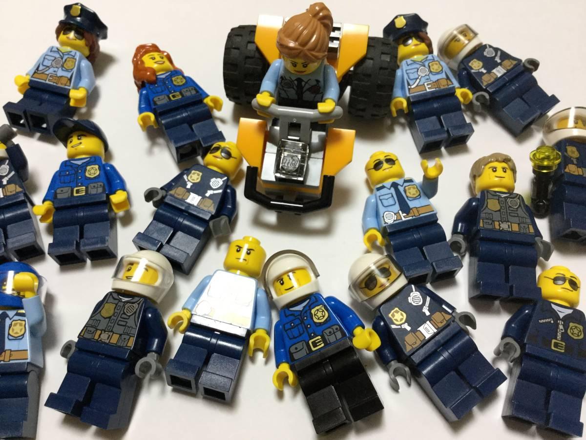 レゴ 大量 kg LEGO ミニフィグ シリーズ別 ポリスセット18体程度 ●S82_画像2