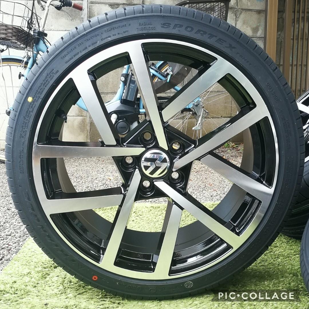 新品VW ワーゲン ゴルフ5 ゴルフ6 ゴルフ7 BK966 18インチ 4本タイヤ付き!▼225/40R18 225/40R18_画像1