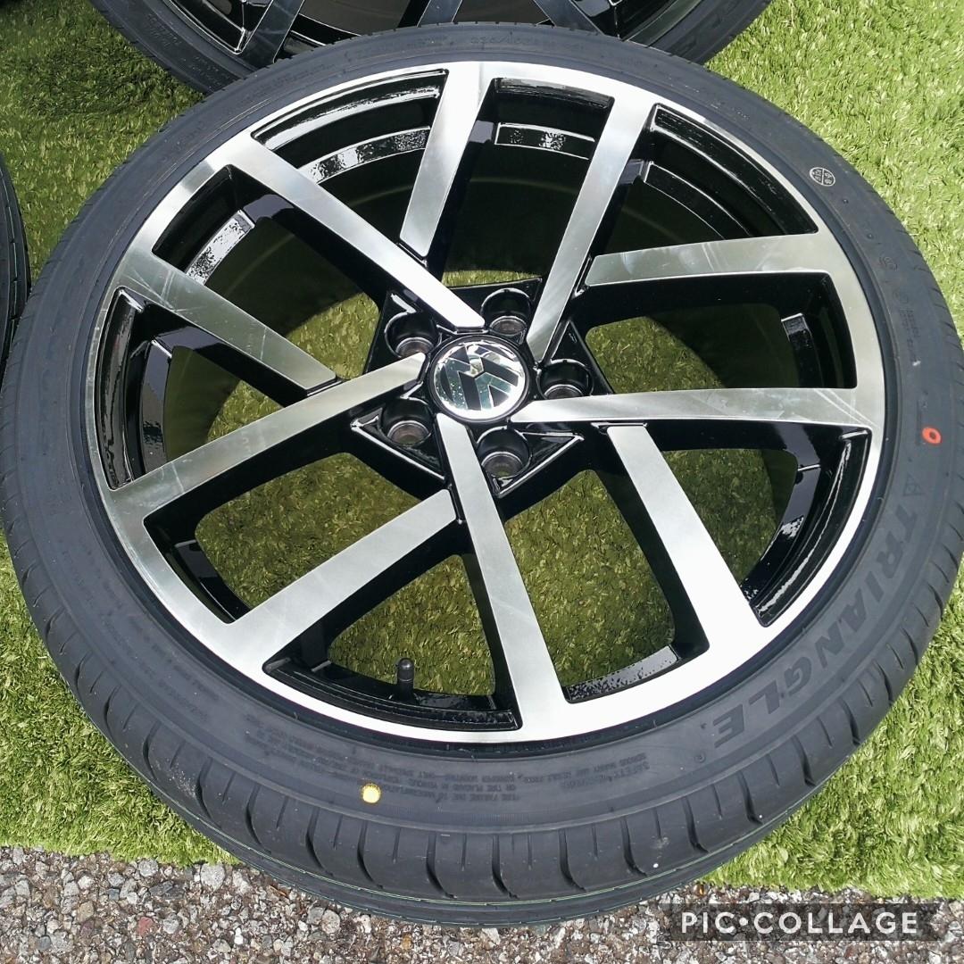 新品VW ワーゲン ゴルフ5 ゴルフ6 ゴルフ7 BK966 18インチ 4本タイヤ付き!▼225/40R18 225/40R18_画像7