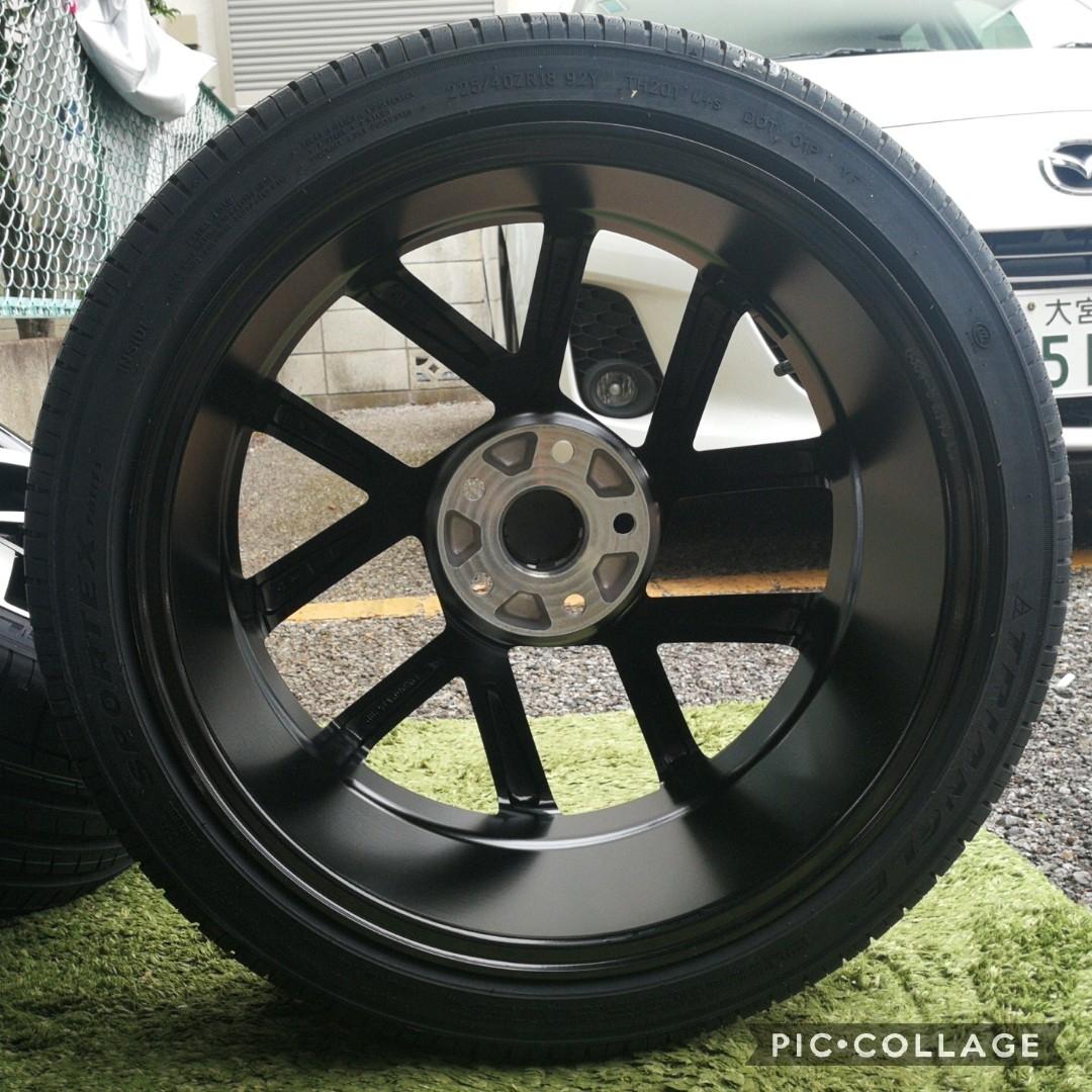 新品VW ワーゲン ゴルフ5 ゴルフ6 ゴルフ7 BK966 18インチ 4本タイヤ付き!▼225/40R18 225/40R18_画像3