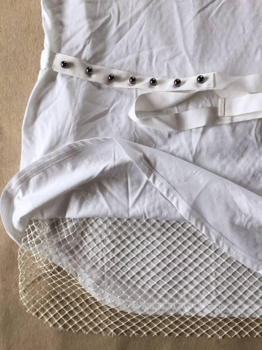 新品 N°21 レース タンクトップ Tシャツ ジレ カットソー ヌメロヴェントゥーノ size 42 L ヌメロ レディース ホワイト ノースリーブ