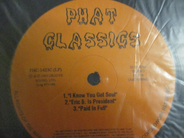 Eric B. & Rakim : Phat Classics 2LP // BEST / Paid In Full (Seven Minutes Of Madness - The Coldcut Remix) / I Know You Got Soul_画像4