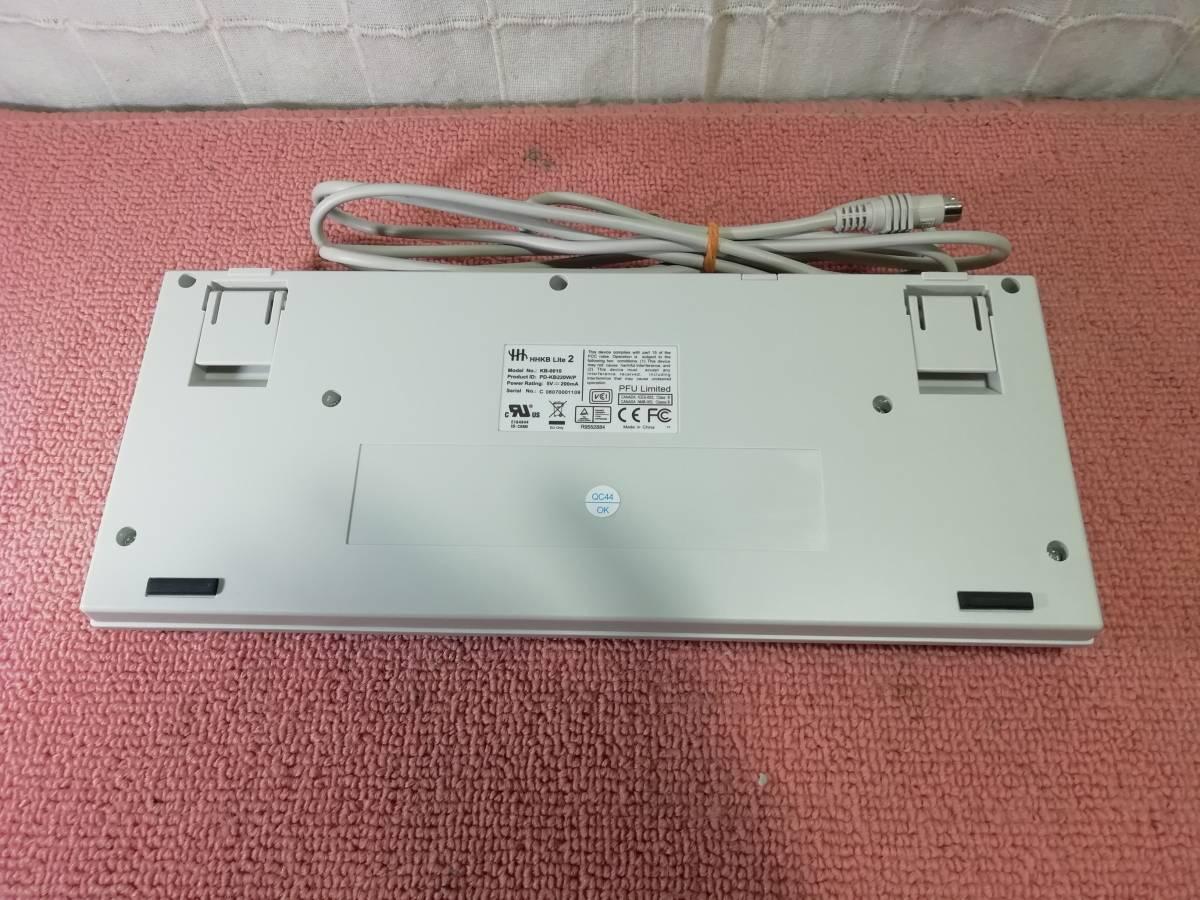動作確認済 HHKB Lite2 PS/2キーボード PD-KB220W/P SKN-0337_画像3