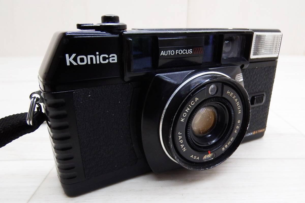 KONICA コニカ★フィルムカメラ ボディ C35 MF/レンズ KONICA HEXANON 38mm F2.8★中古品「管理№M6354」