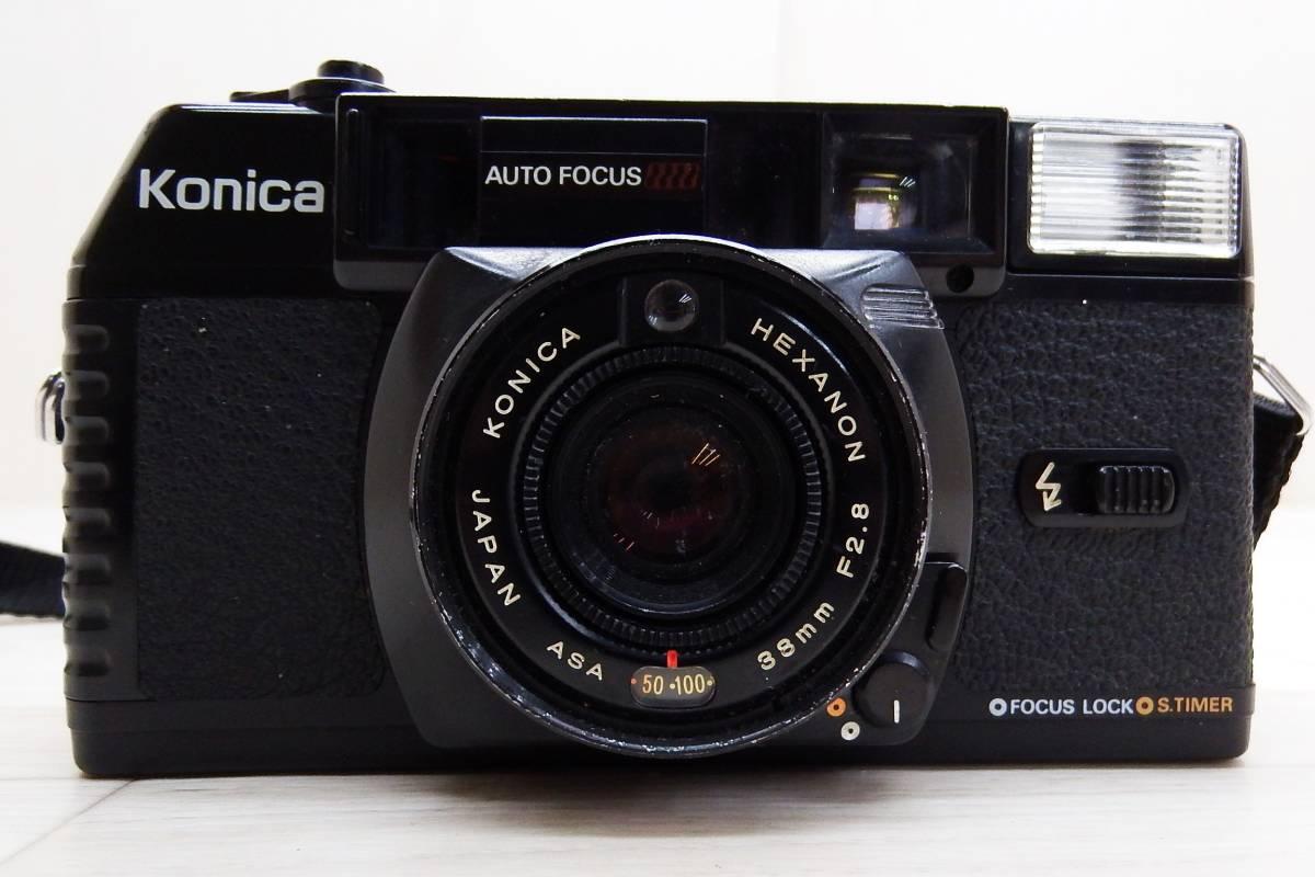 KONICA コニカ★フィルムカメラ ボディ C35 MF/レンズ KONICA HEXANON 38mm F2.8★中古品「管理№M6354」_画像2