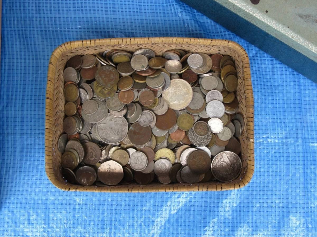 外国古銭・古コインおまとめ 3.1kg 海外の硬貨 ジャンク