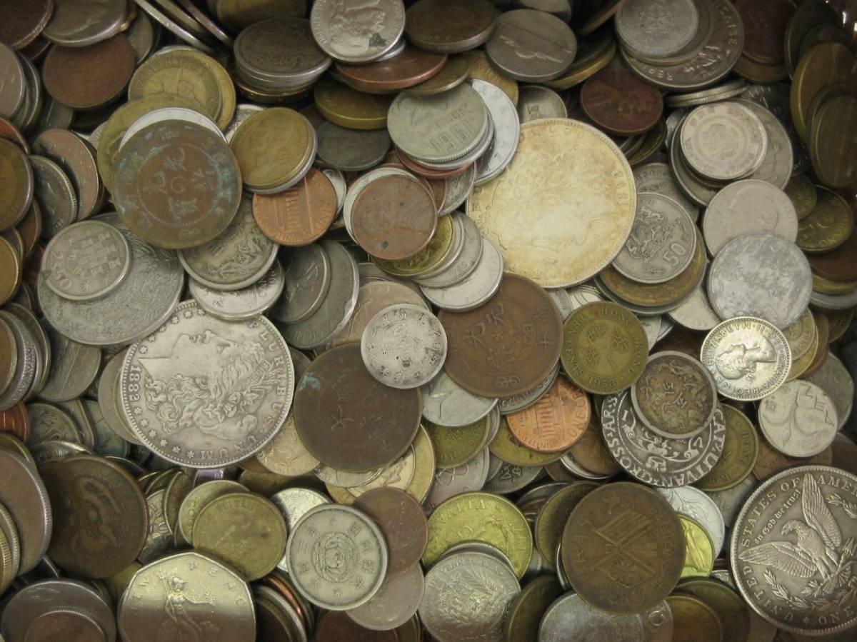 外国古銭・古コインおまとめ 3.1kg 海外の硬貨 ジャンク_画像2