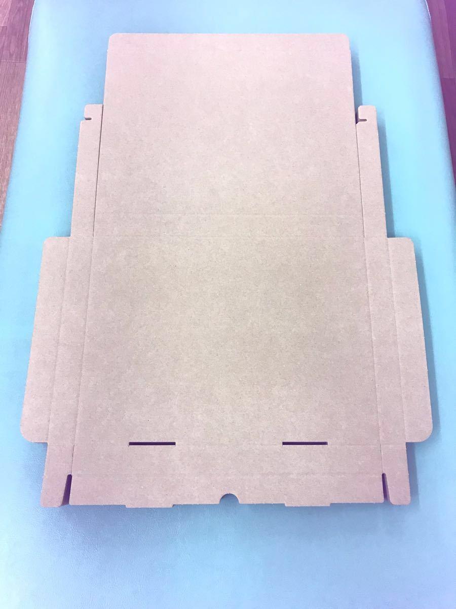送料無料 A4 30枚 クリックポスト ゆうパケット規格ダンボール 3cm厚 綺麗な箱に入れて発送します_折り曲げずに、このままの状態で発送