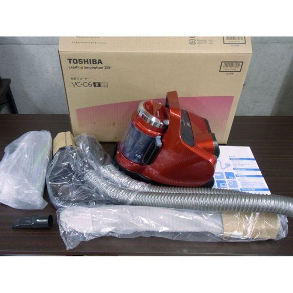 ★送料無料★開封未使用品★東芝 TOSHIBA サイクロン式クリーナー VC-C6-R レッド