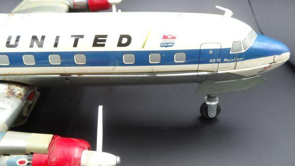 レア ヨネザワ 1950年代製 ユナイテッド エアライン DCー7C ヴィンテージ