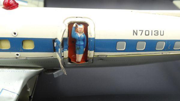 レア ヨネザワ 1950年代製 ユナイテッド エアライン DCー7C ヴィンテージ_画像5