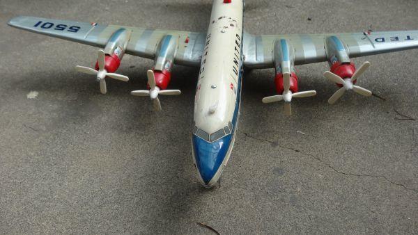 レア ヨネザワ 1950年代製 ユナイテッド エアライン DCー7C ヴィンテージ_画像2