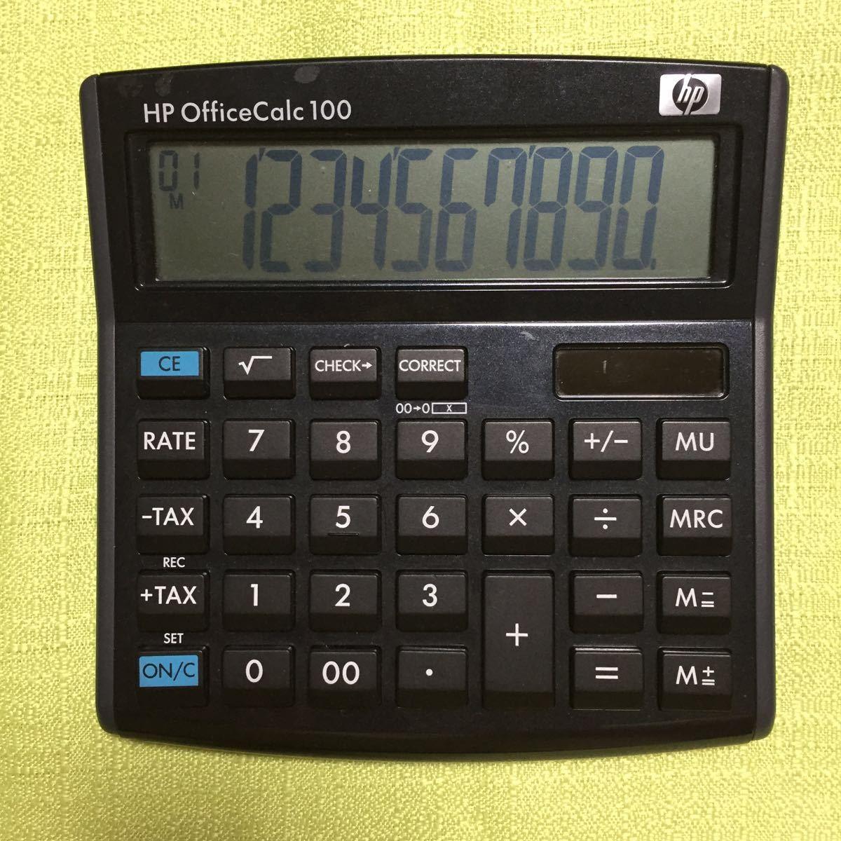 HP Office Calc 100 電卓 計算出来ました!