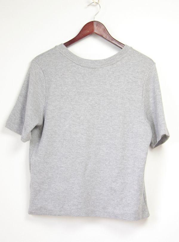 ★B271☆H&M ビジュートレーナー スウェットシャツ 半袖 グレー レディーストップス Tシャツ スポーツにも♪_画像6